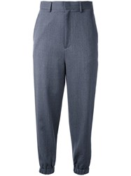 En Route Elasticated Cuff Cropped Trousers Grey