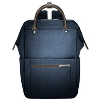 Briggs And Riley Kinzie Frame Wide Mouth Backpack Navy