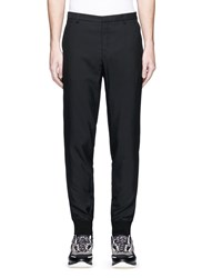 Lanvin Zip Cuff Jogging Pants Black