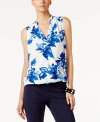 Inc International Concepts Floral Print Surplice Top Only At Macy's Floral Essence
