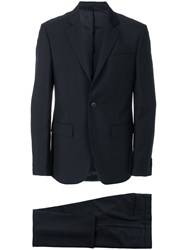 Givenchy Formal Fitted Two Piece Suit Cotton Acetate Cupro Wool Black
