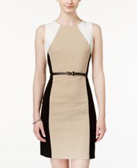 Amy Byer Bcx Juniors' Belted Colorblocked Sheath Dress