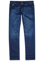 Hugo Boss Black Delaware Blue Faded Slim Leg Jeans