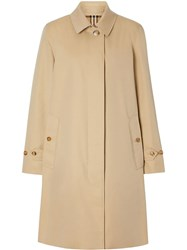 Burberry Gabardine Car Coat Neutrals