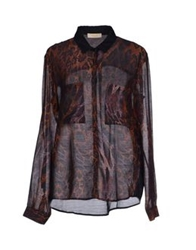 Marani Jeans Shirts Dark Brown