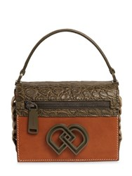 Dsquared Crock Embossed And Smooth Leather Bag