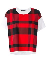 Sofie D'hoore Checked T Shirt Women Cotton 38 Red