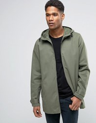 Asos Lightweight Parka Jacket In Khaki Khaki Green