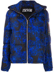 Versace Jeans Couture Hooded Baroque Print Puffer Jacket 60