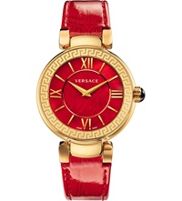 Versace Vnc14 0014 Leda Stainless Steel Watch Red