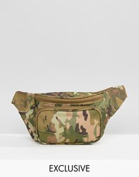 Reclaimed Vintage Camo Bum Bag Green