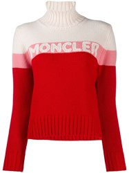 Moncler Roll Neck Sweater Red