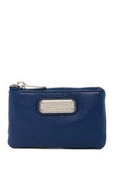 Marc By Marc Jacobs New Q Slim Leather Key Pouch Blue
