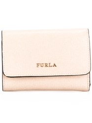 Furla Cardholder Purse With Gold Tone Detail Nude Neutrals