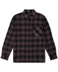 Rip Curl Men's Long Sleeve Countdown Flannel Shirt Black