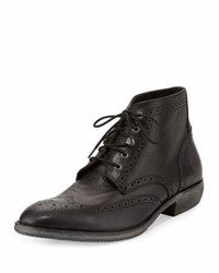 Marc New York Hillcrest Mid Wing Tip Boot Black