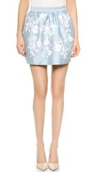 Cynthia Rowley Embroidered Full Skirt Light Blue