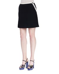 Lanvin Twill Mini Skirt W Rope Trim Black