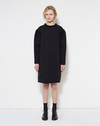 Simone Rocha Embellished Bonded Jersey Dress