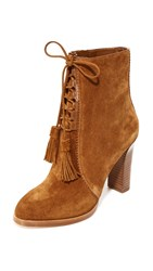 Michael Kors Odile Lace Up Booties Luggage