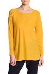Eileen Fisher Ballet Neck Cashmere Tunic Sweater Yellow