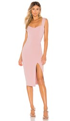 Nookie Divine Midi Dress In Pink. Dusty Pink