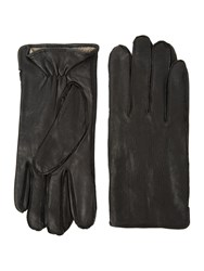 Linea Smart Leather Gloves Black