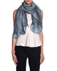 Giorgio Armani Woven Metallic Finish Scarf Blue Gray Blue Gray