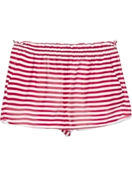Red Valentino Elasticated Striped Shorts