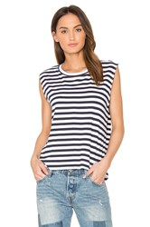 Feel The Piece Rumi Stripe Tee Navy