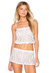Only Hearts Club Lisbon Lace Crop Cami White