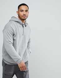 Yourturn Hoodie With Borg Lining In Grey White