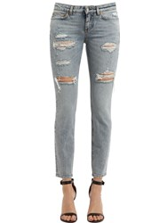 Dolce And Gabbana Low Raise Destroyed Denim Jeans