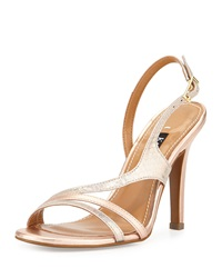Kay Unger Aideen Strappy Metallic Sandal Iridescent Blush