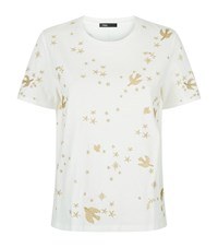 Maje Terence Embroidered T Shirt Female White