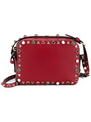 Valentino 'Rockstud Rolling' Crossbody Bag Red