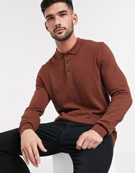 Burton Menswear Polo In Cinnamon Brown