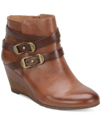 Sofft Oakes Crisscross Strap Booties Women's Shoes Whiskey