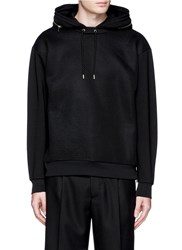 Mcq By Alexander Mcqueen Oversized Mesh Front Hoodie Black