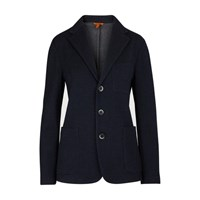 Barena Cotton And Wool Jacket Navy