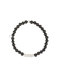 Tateossian Beaded Bracelet Black