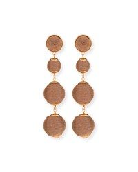 Lydell Nyc Thread Wrapped Ball Drop Earrings Rose Gold