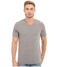 Threads 4 Thought Baseline Tri Blend V Neck Tee Heather Grey Men's T Shirt Gray