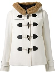 Guild Prime Short Hooded Duffle Coat White