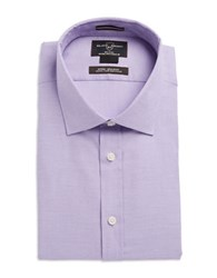 Black Brown Fitted Dress Shirt Purple