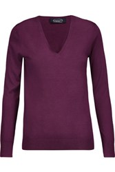 Magaschoni Silk And Cashmere Blend Sweater Burgundy