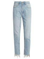 Mih Jeans Mimi High Rise Straight Leg Light Denim