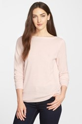 Classiques Entier Cross Back Detail Silk And Cashmere Sweater Pink