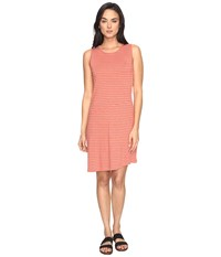 Carve Designs Jones Dress Sunkiss Aruba Stripe Women's Dress Orange