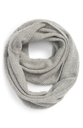 Women's Halogen Pointelle Knit Wool And Cashmere Infinity Scarf Grey Grey Medium Heather